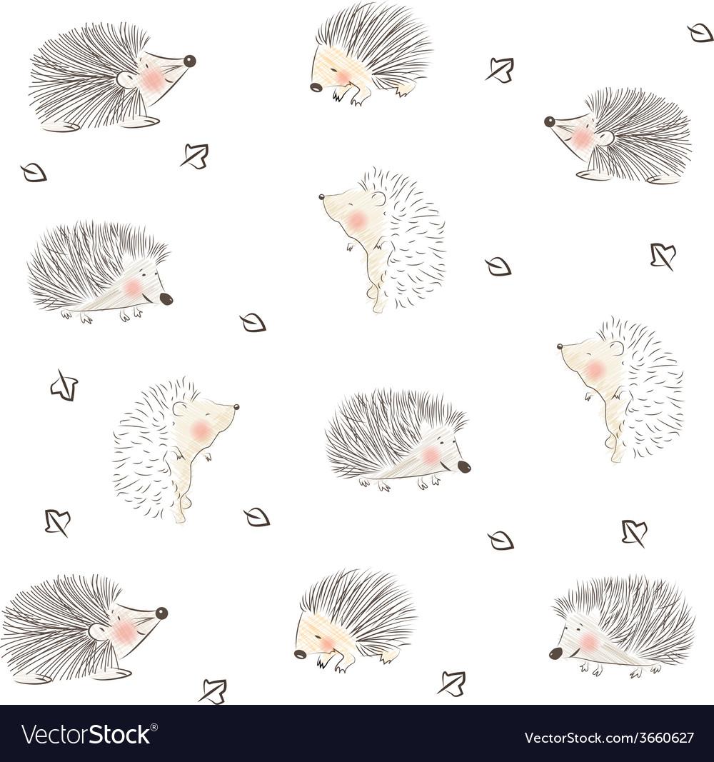 Hedgehog pattern vector | Price: 1 Credit (USD $1)