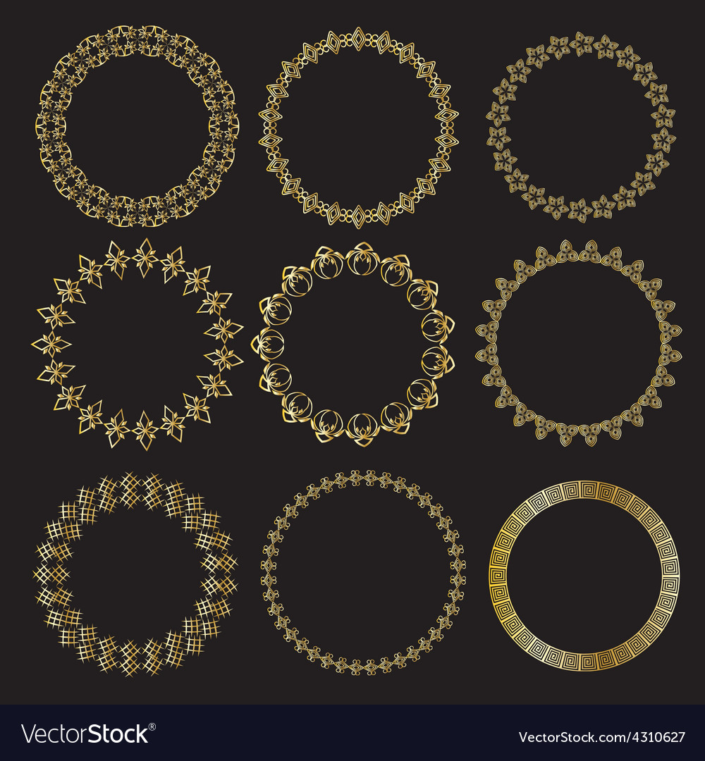 Monochromatic ethnic round ornamental vector | Price: 1 Credit (USD $1)