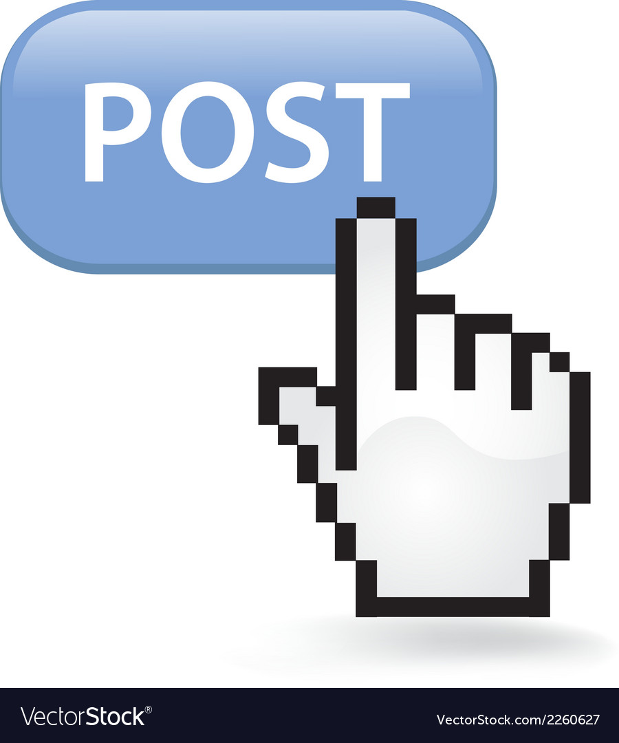 Post button vector | Price: 1 Credit (USD $1)
