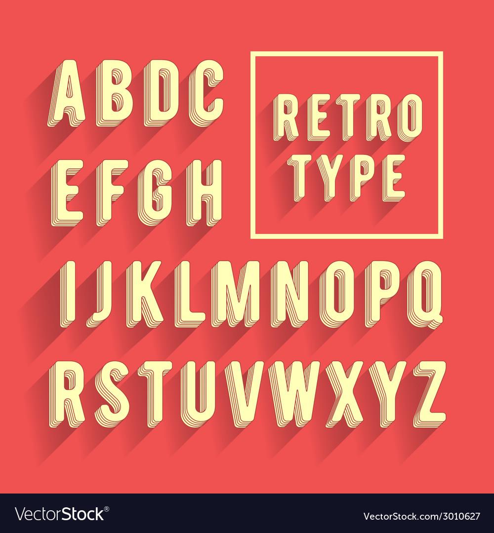 Retro poster alphabet vector | Price: 1 Credit (USD $1)