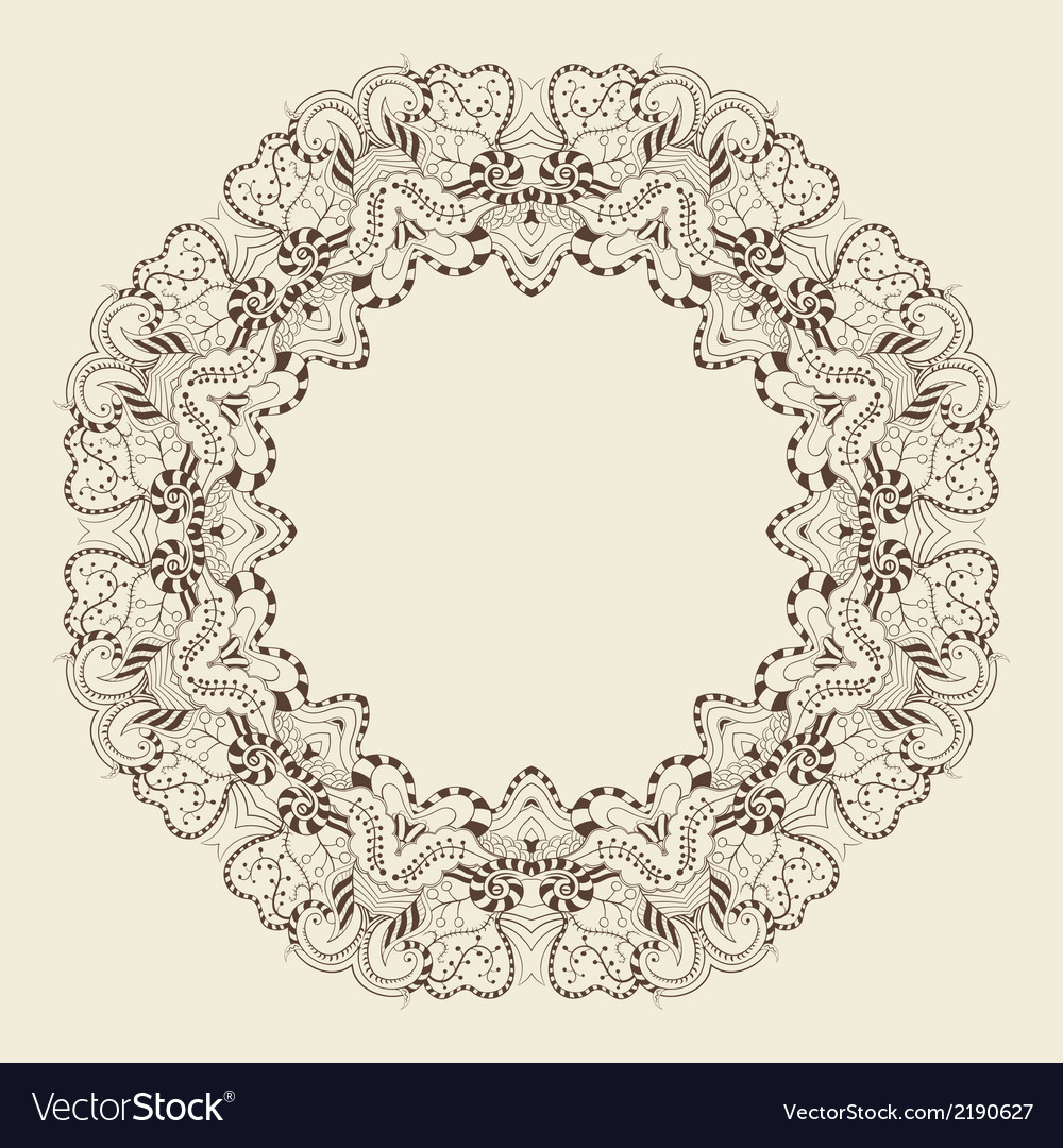 Round ornamental frame vector | Price: 1 Credit (USD $1)