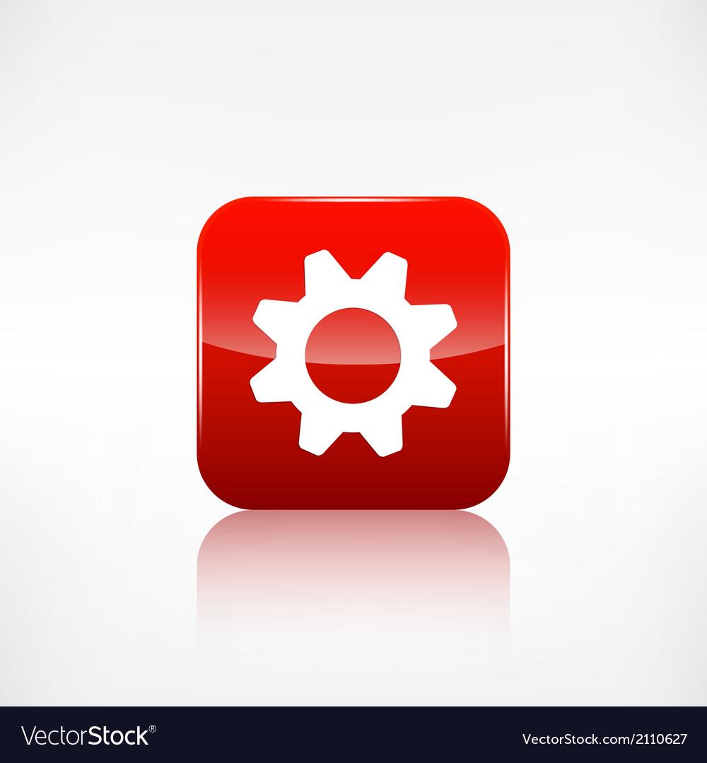 Settings icon gear symbol application button vector | Price: 1 Credit (USD $1)