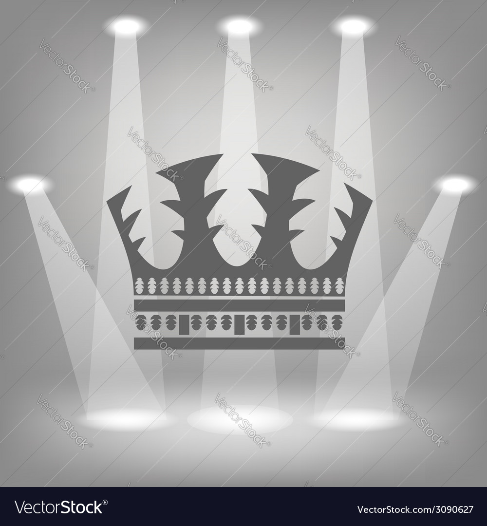 Silhouette of crown vector | Price: 1 Credit (USD $1)