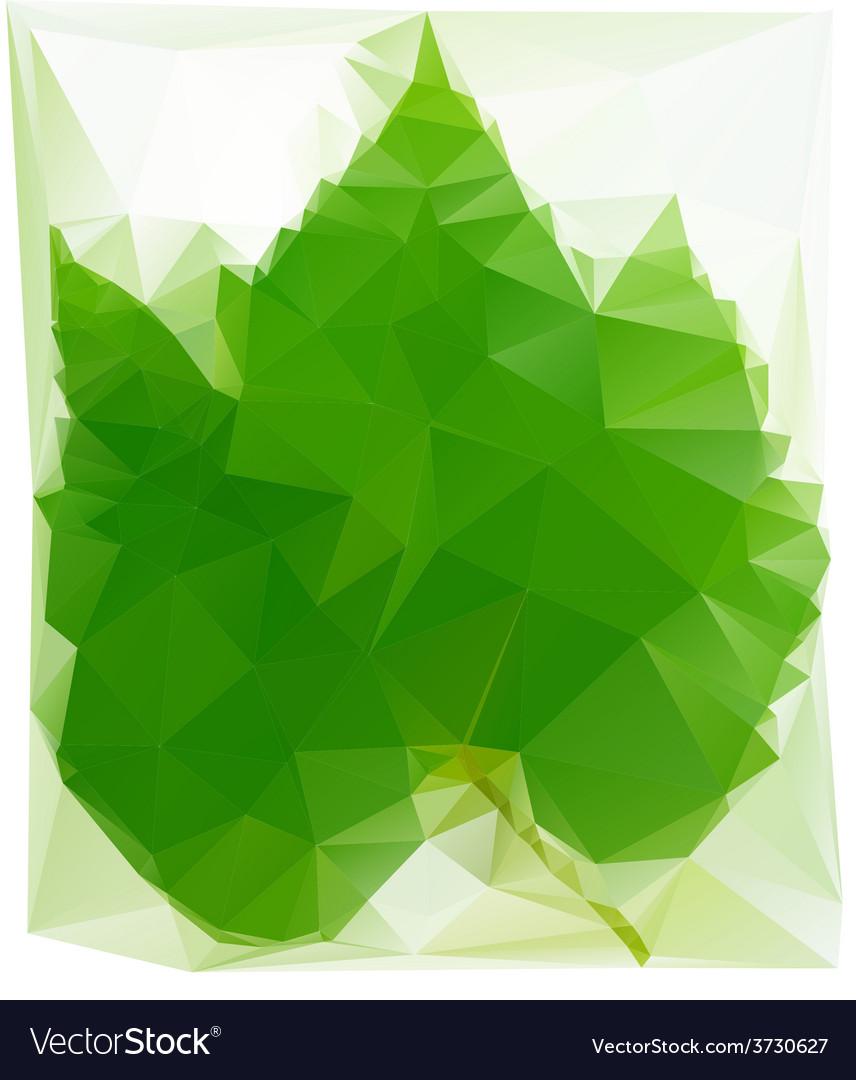 Triangulated wine leaf vector | Price: 1 Credit (USD $1)