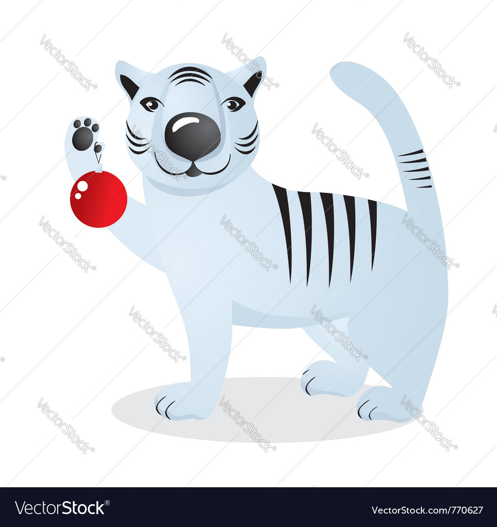 White tiger vector | Price: 1 Credit (USD $1)