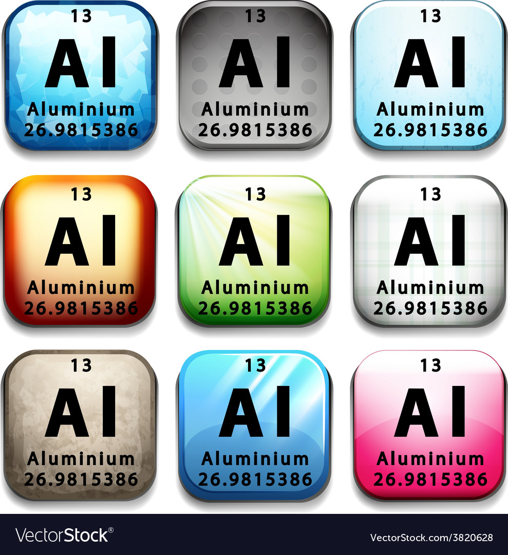 An icon showing the chemical aluminium vector | Price: 1 Credit (USD $1)