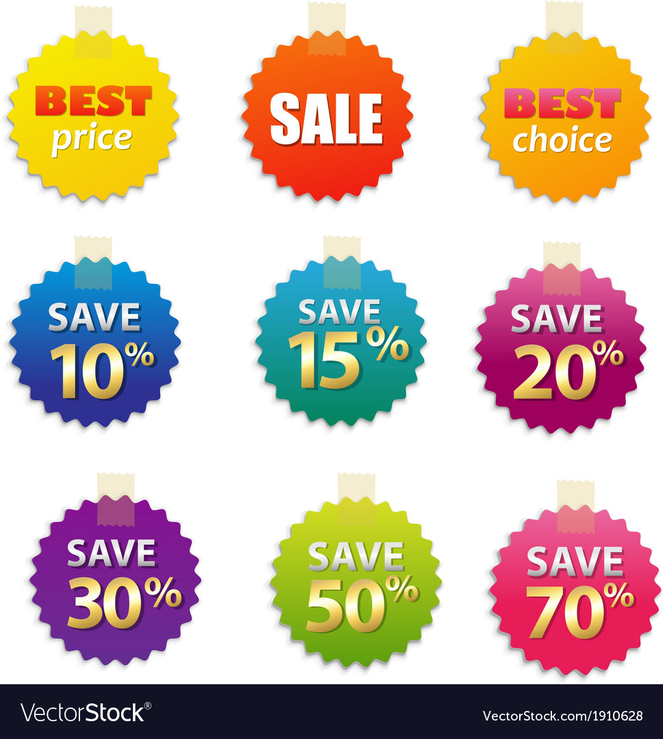 Big sale tags vector | Price: 1 Credit (USD $1)