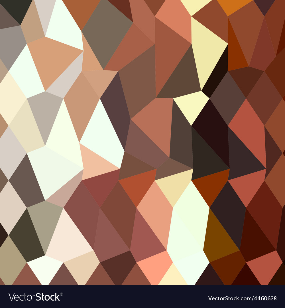 Burnt sienna abstract low polygon background vector | Price: 1 Credit (USD $1)