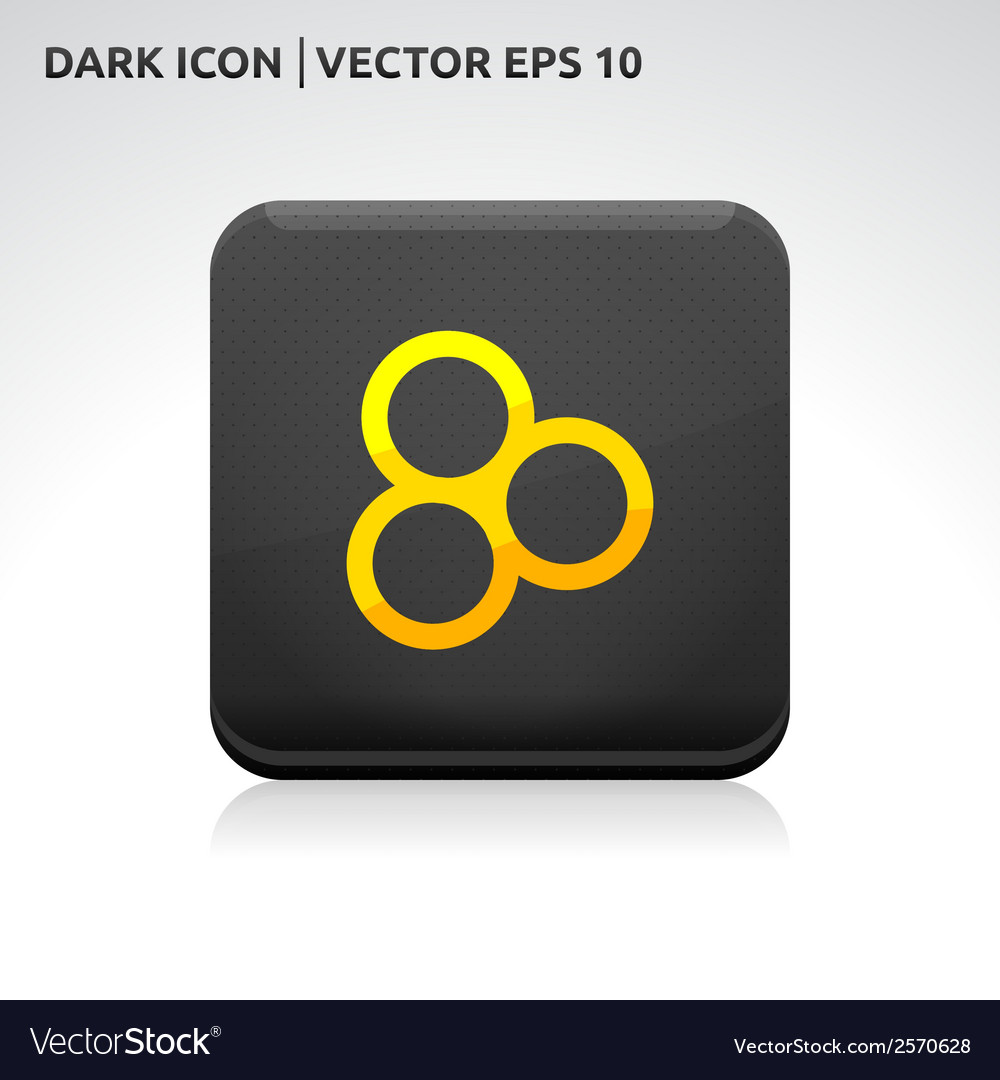 Circles icon gold vector | Price: 1 Credit (USD $1)