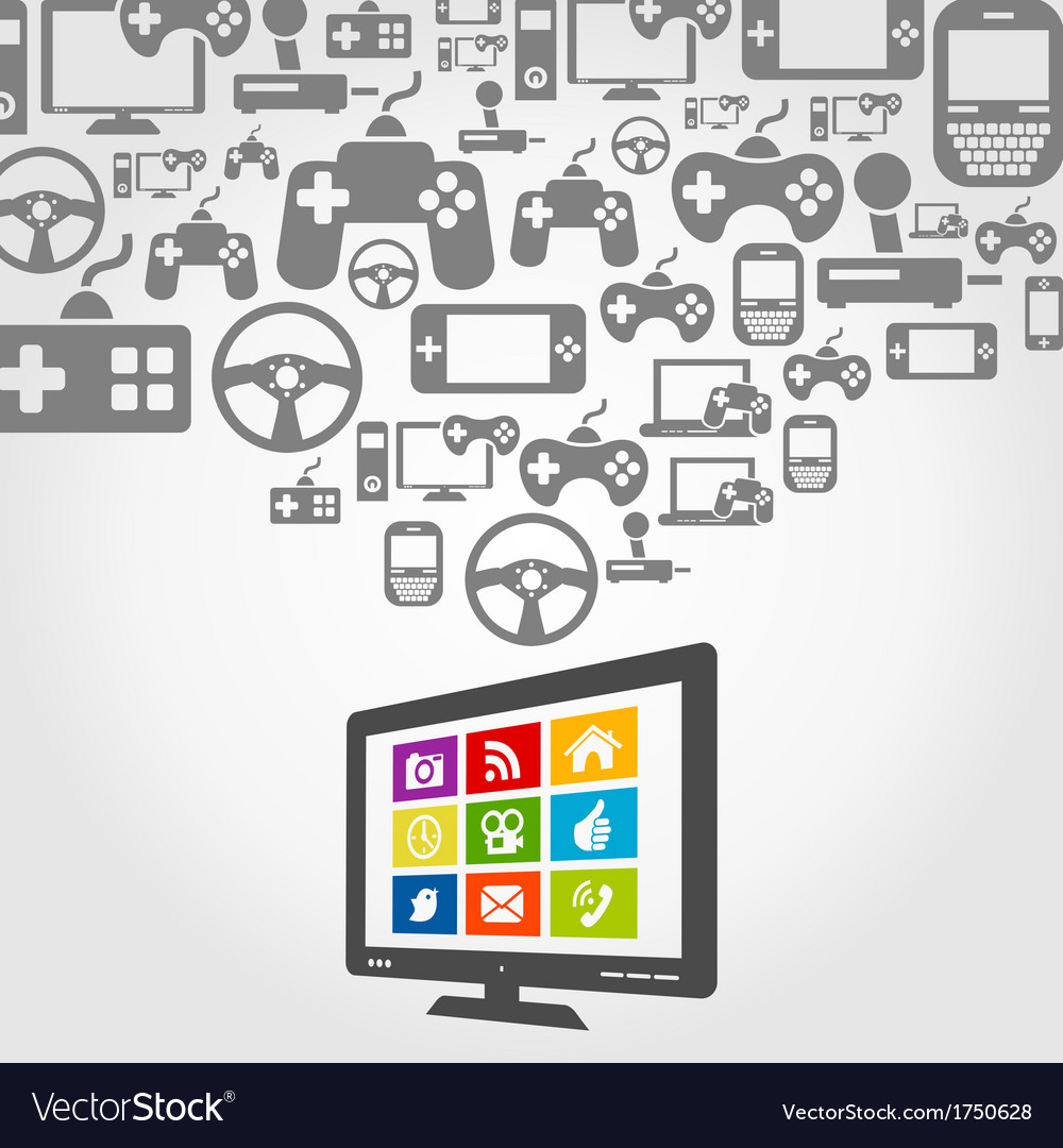 Computer game vector | Price: 1 Credit (USD $1)