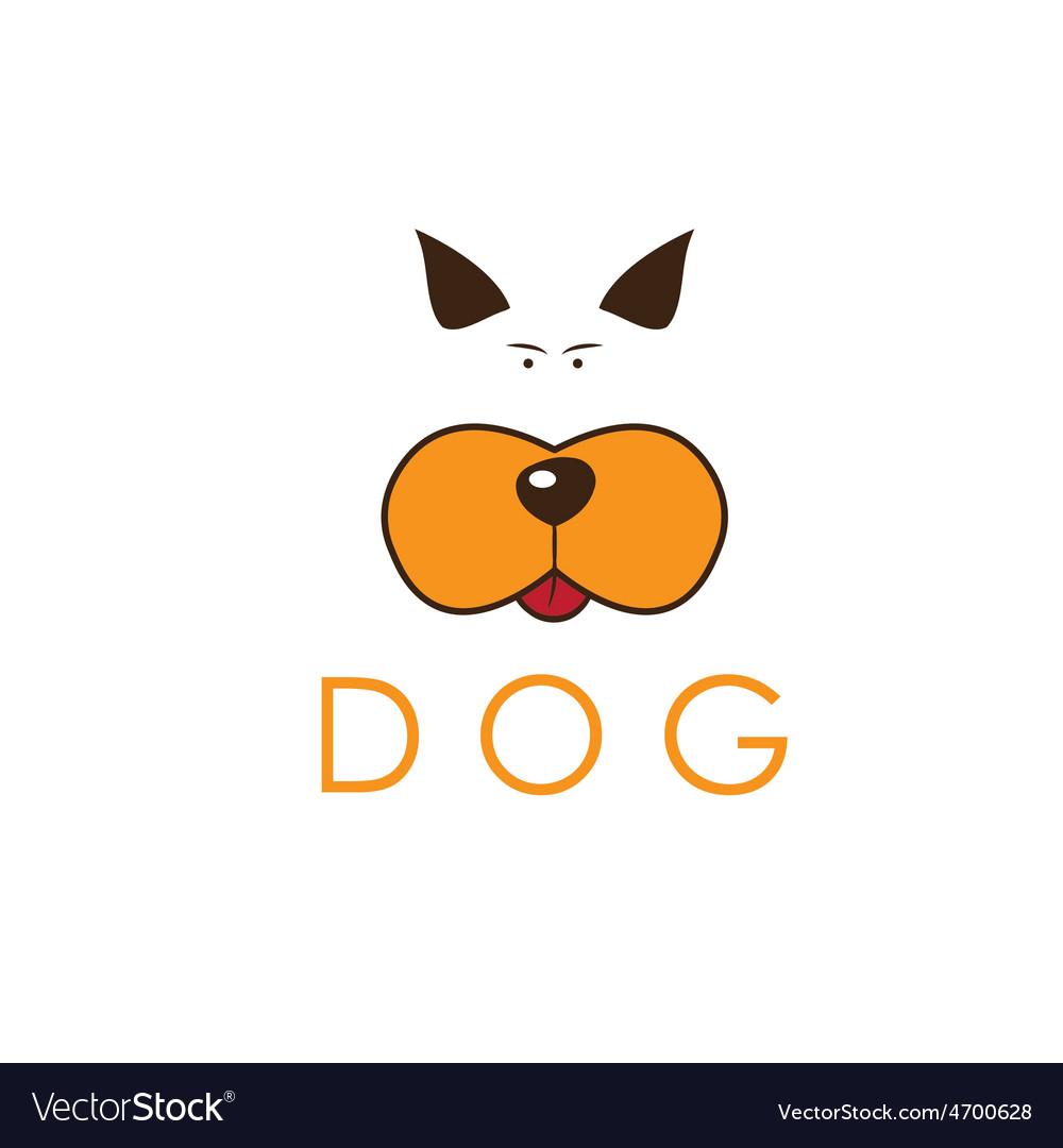 Dog head icon vector | Price: 1 Credit (USD $1)