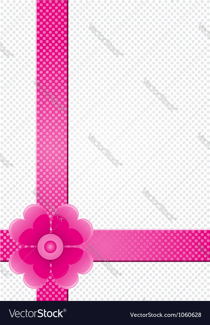 Gray background with pink stripes and a flower vector | Price: 1 Credit (USD $1)