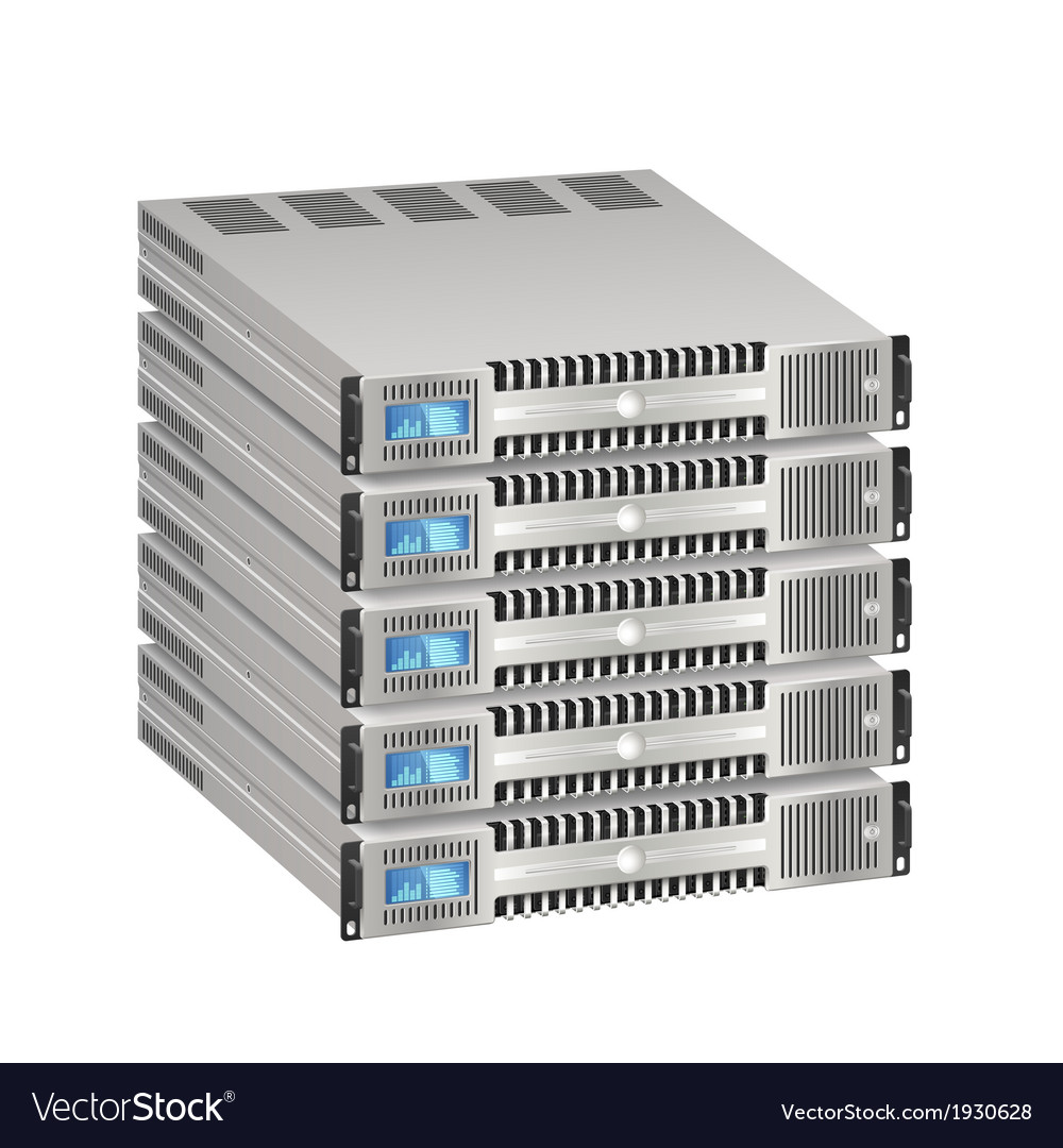 Network server vector | Price: 1 Credit (USD $1)