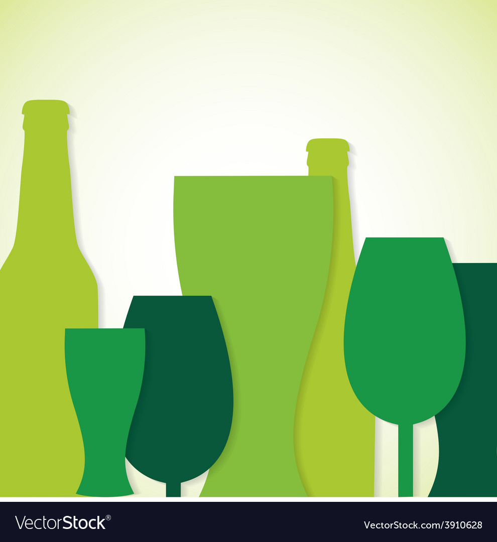 Overlay beer bottle and glass st patricks day card vector | Price: 1 Credit (USD $1)