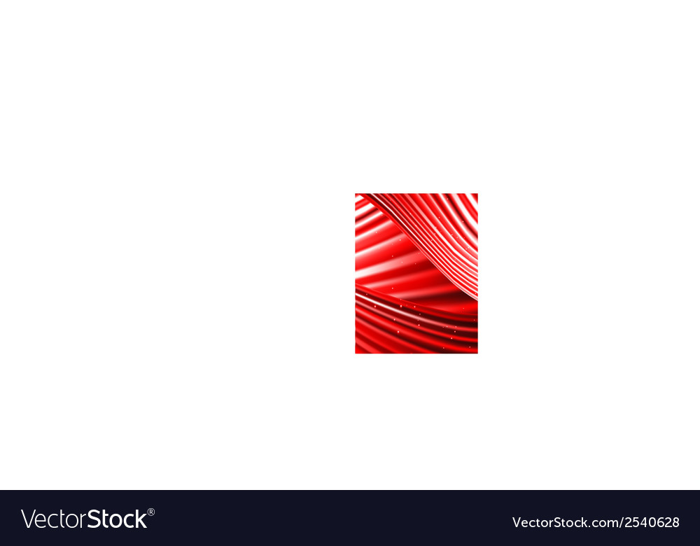 Stars are falling on the background of red rays vector | Price: 1 Credit (USD $1)