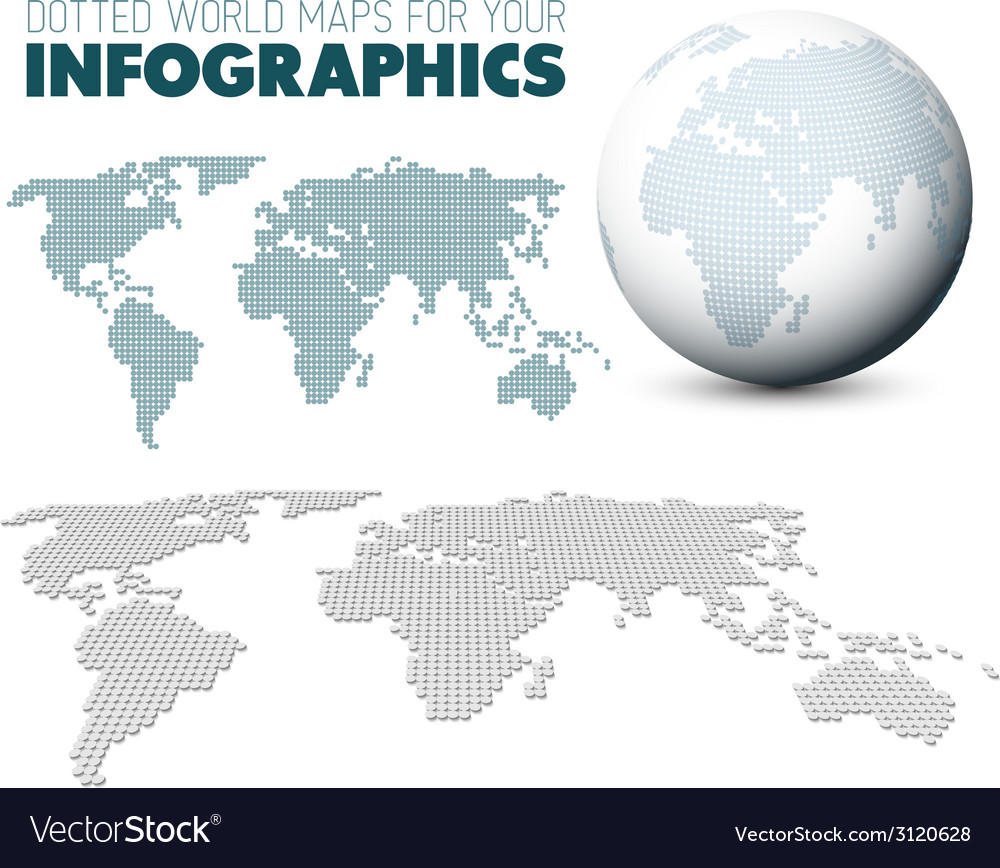 World map and globe for your infographics vector | Price: 1 Credit (USD $1)