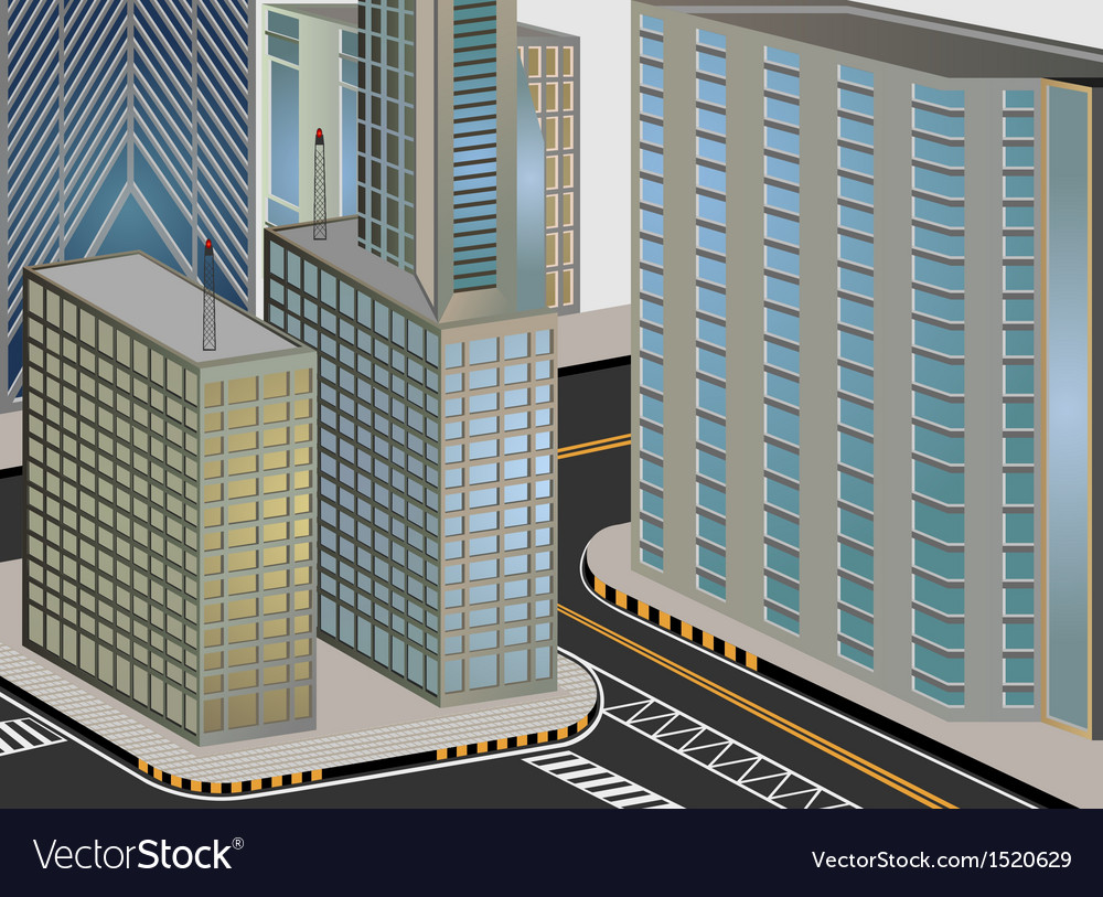 Cityscape cartoon vector | Price: 1 Credit (USD $1)