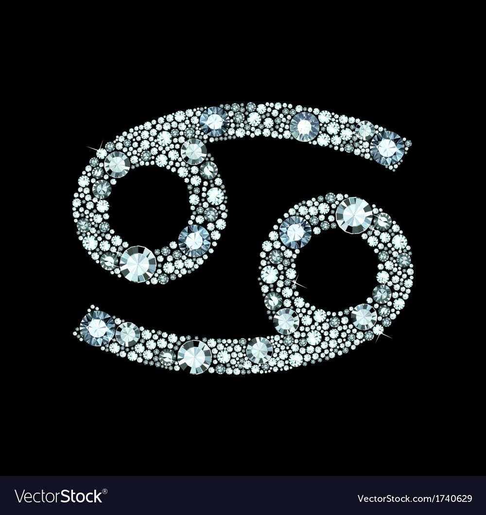 Diamond cancer symbol vector | Price: 1 Credit (USD $1)