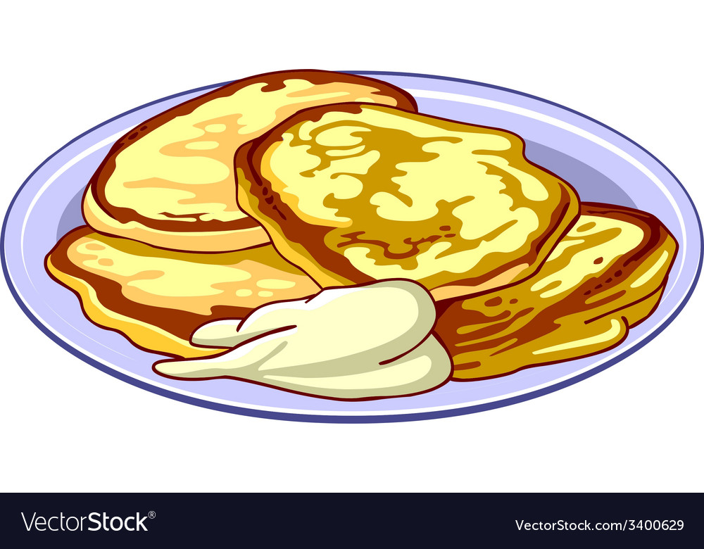 Fritters on a platter vector | Price: 1 Credit (USD $1)