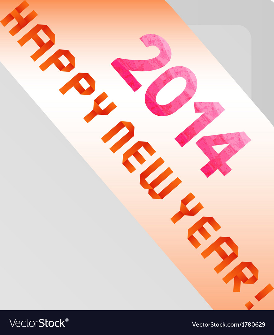 Happy new year 2014 card4 vector | Price: 1 Credit (USD $1)