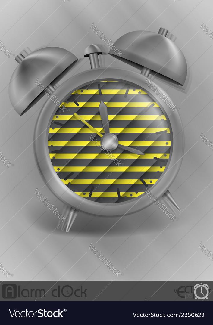 Metal classic style alarm clock vector | Price: 1 Credit (USD $1)