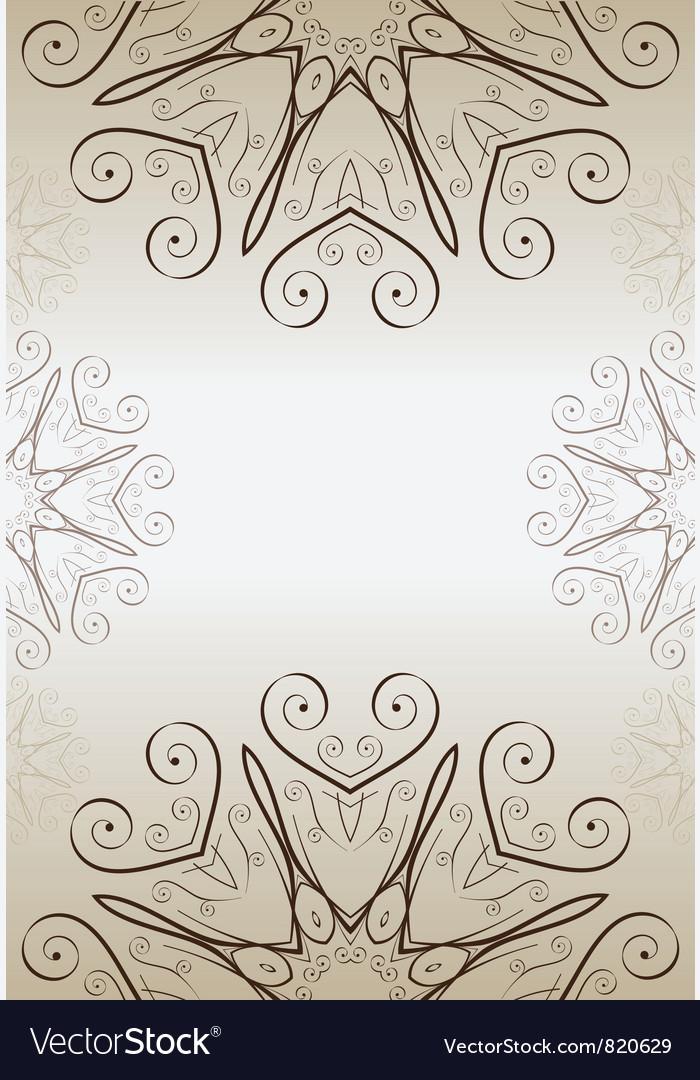 Ornate vintage frame vector | Price: 1 Credit (USD $1)