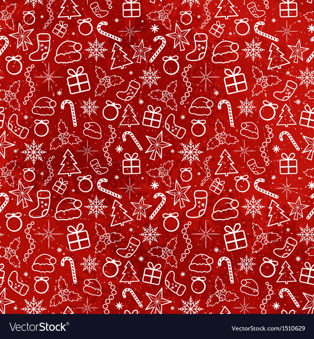 Red christmas seamless pattern vector | Price: 1 Credit (USD $1)