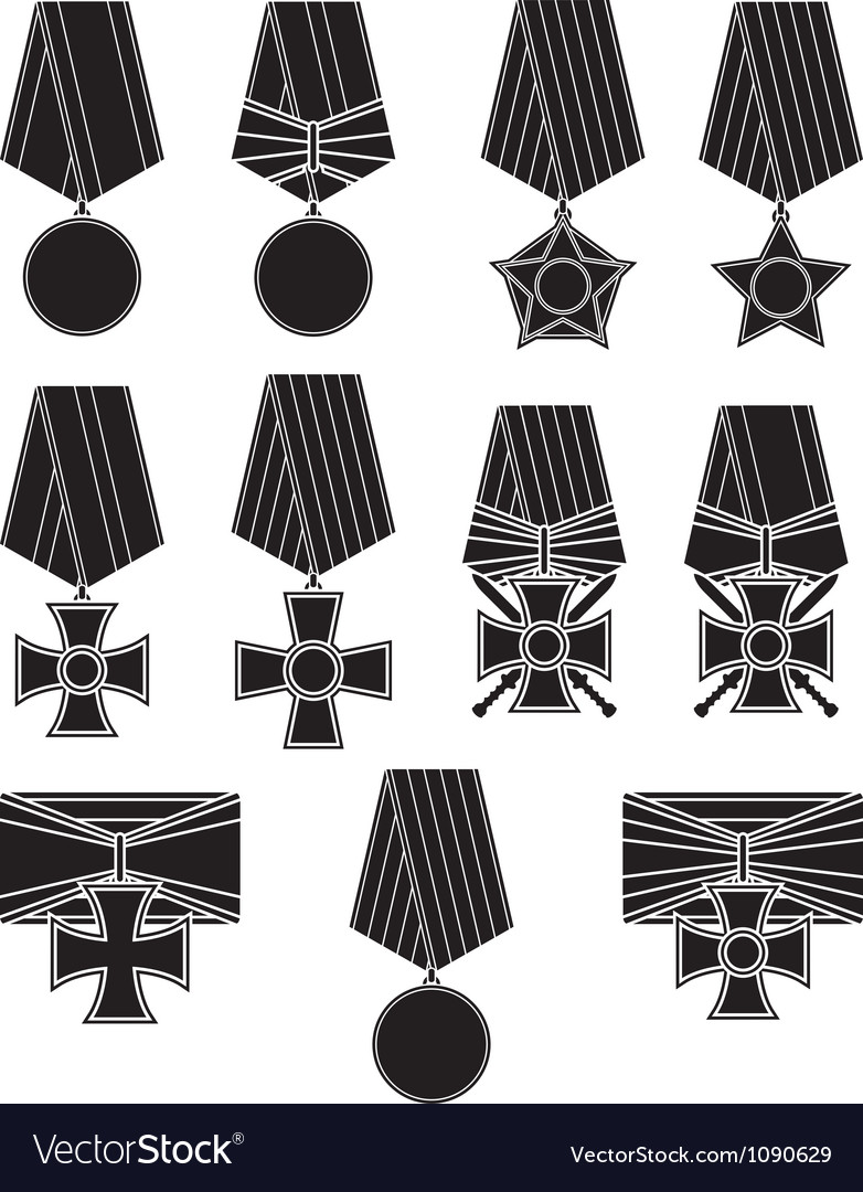 Set of orders and medals vector | Price: 1 Credit (USD $1)