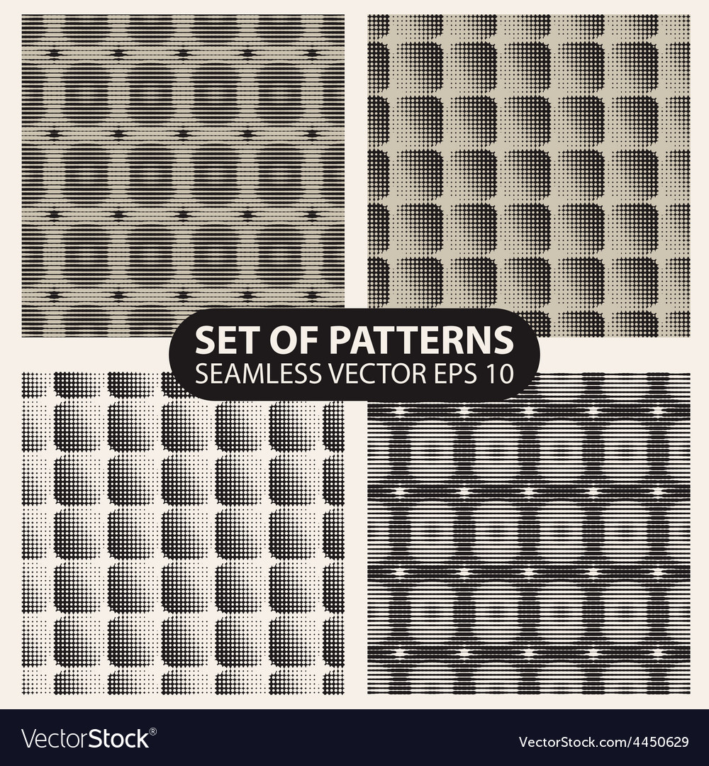 Set of seamless knitted patterns graphics vector | Price: 1 Credit (USD $1)