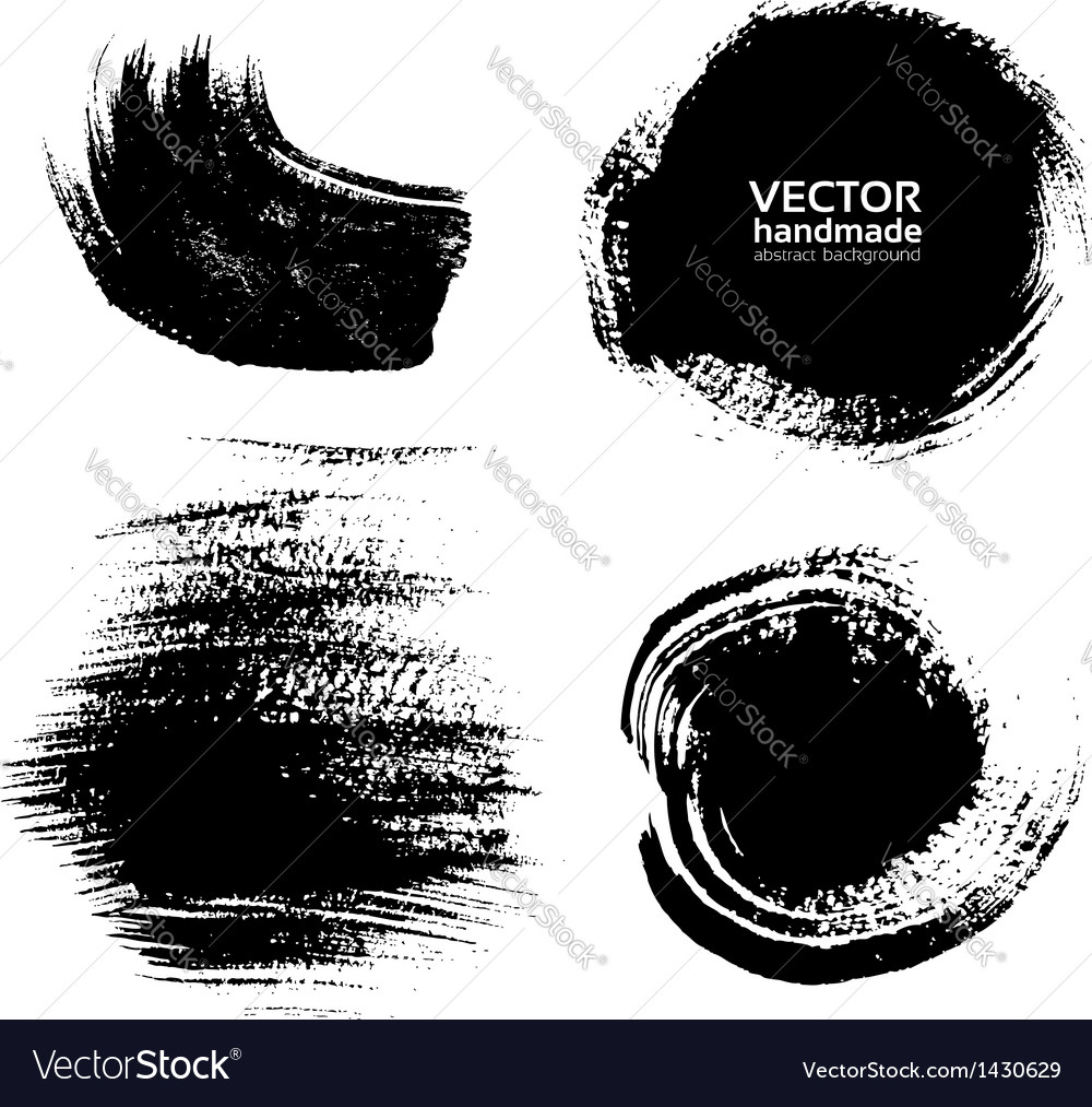 Smears and fingerprints thick black paint vector | Price: 1 Credit (USD $1)