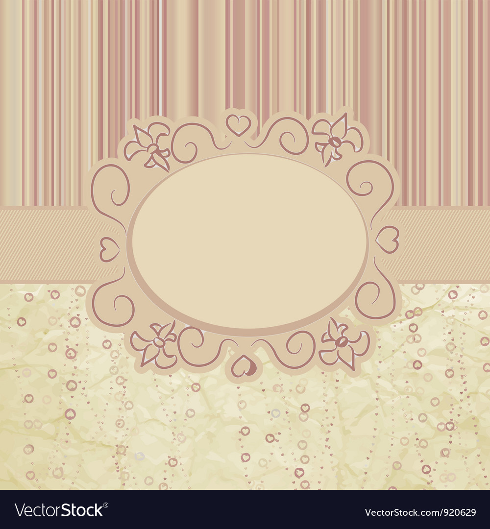 Vintage valentines card vector | Price: 1 Credit (USD $1)