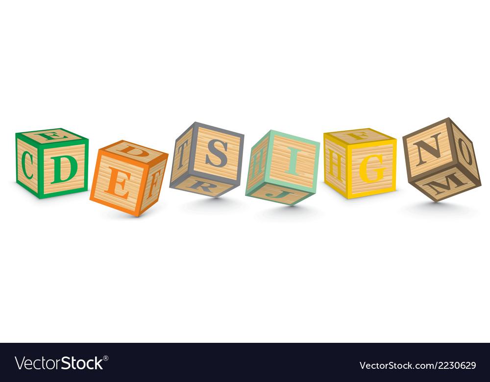 Word design written with alphabet blocks vector | Price: 1 Credit (USD $1)