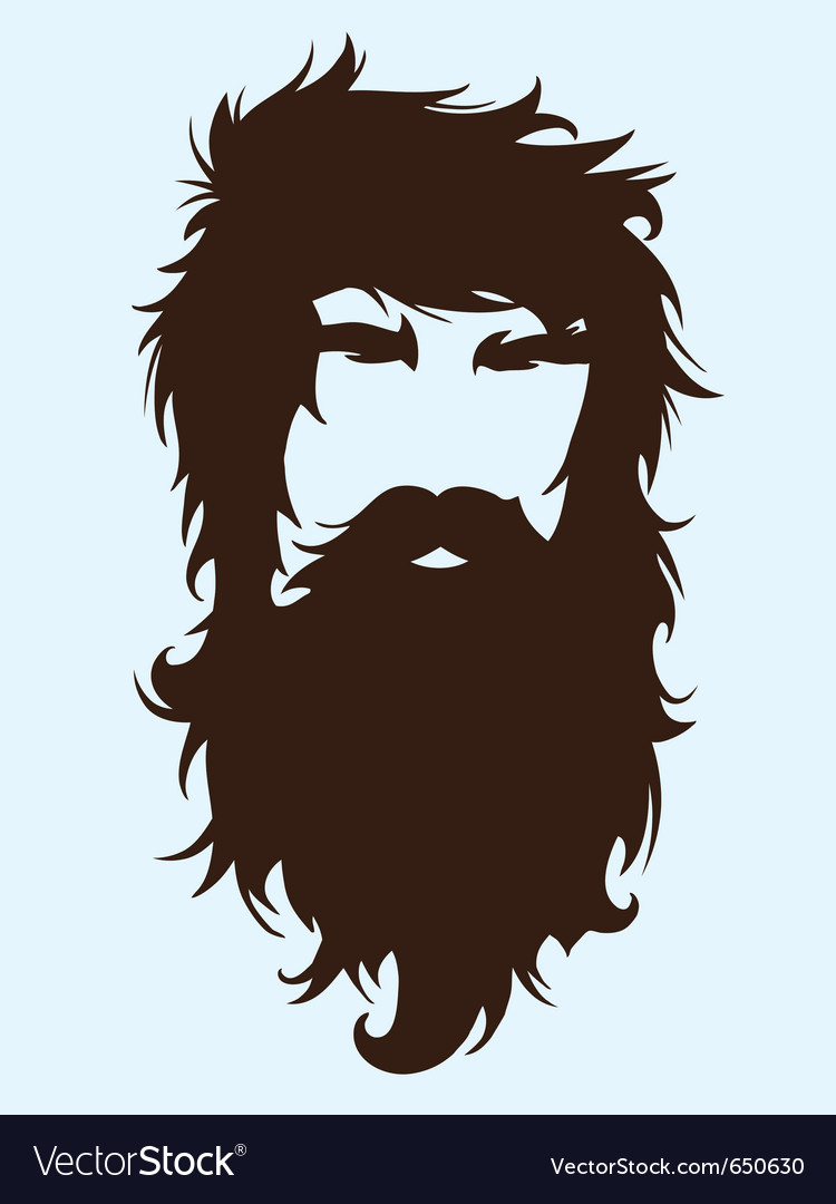 Bearded man vector