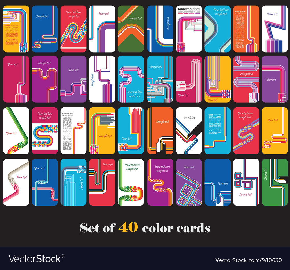 Big set of abstract cards vector | Price: 1 Credit (USD $1)