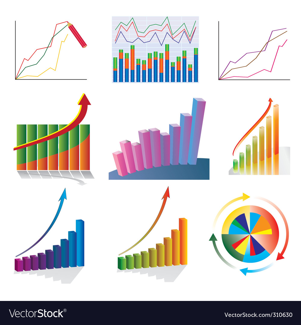 Business charts vector | Price: 3 Credit (USD $3)