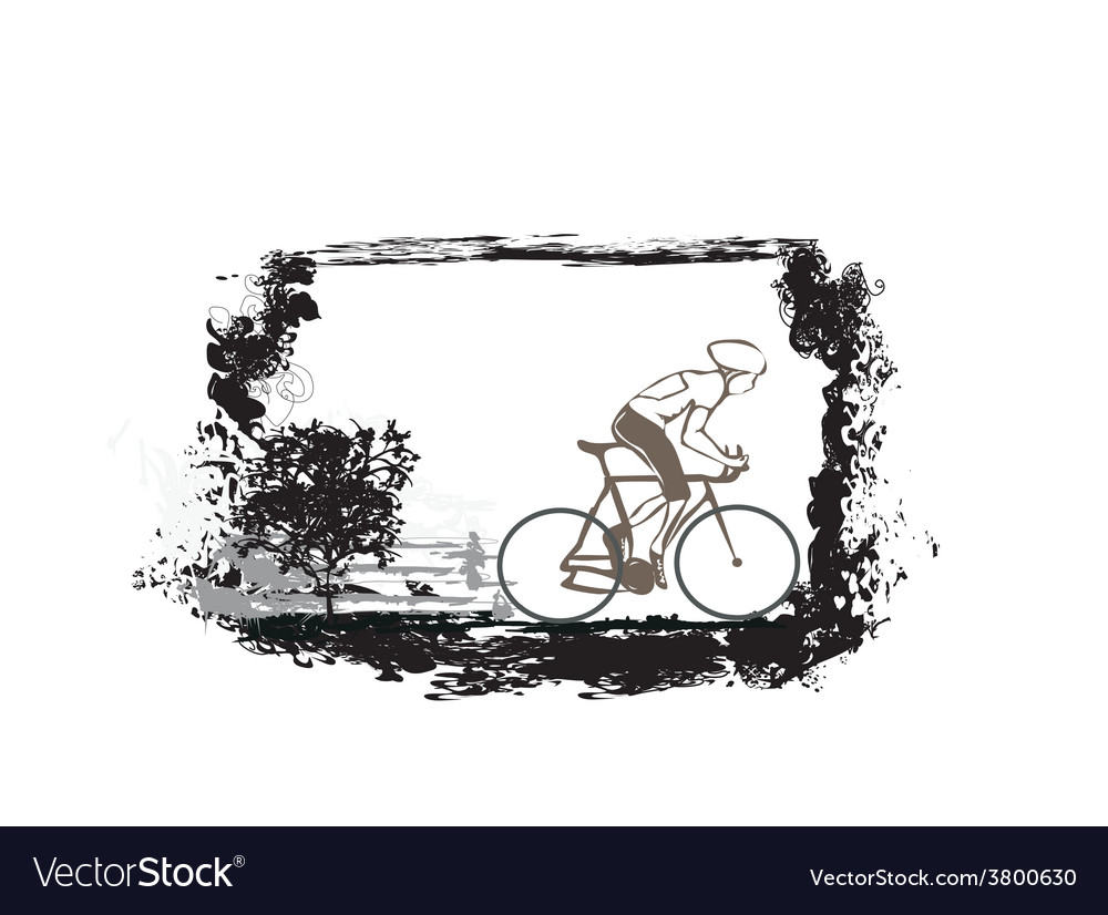 Cycling grunge poster vector   Price: 1 Credit (USD $1)