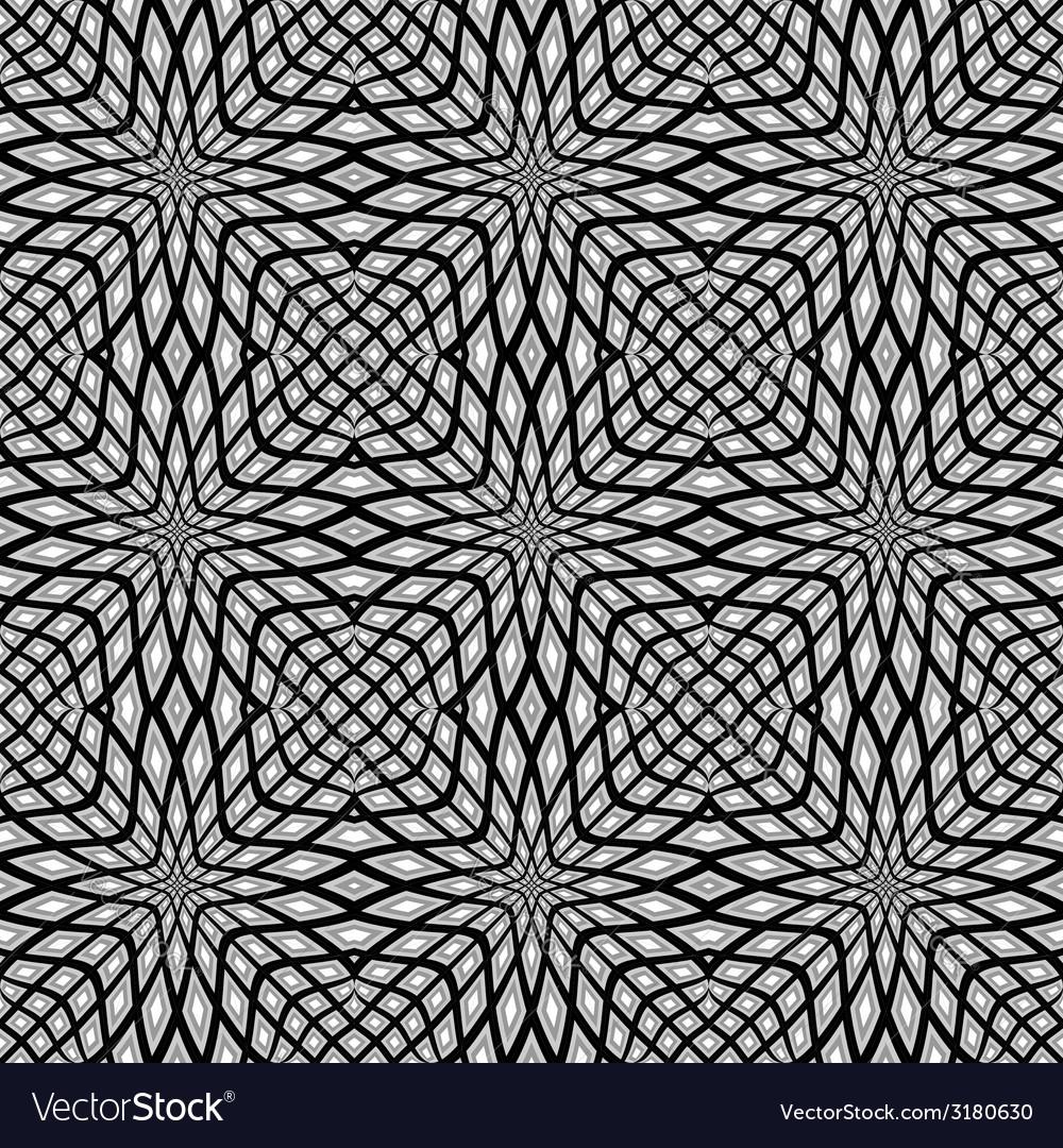 Design monochrome seamless mosaic pattern vector | Price: 1 Credit (USD $1)