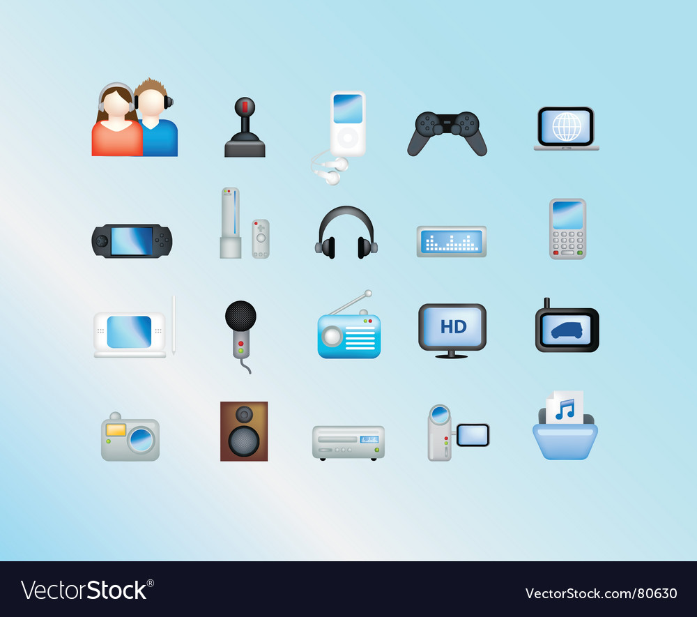 Electronic gadgets vector | Price: 1 Credit (USD $1)