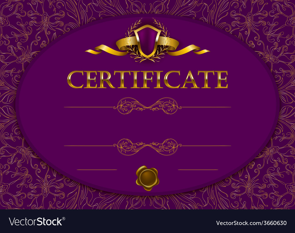 Elegant template of certificate diploma vector | Price: 3 Credit (USD $3)