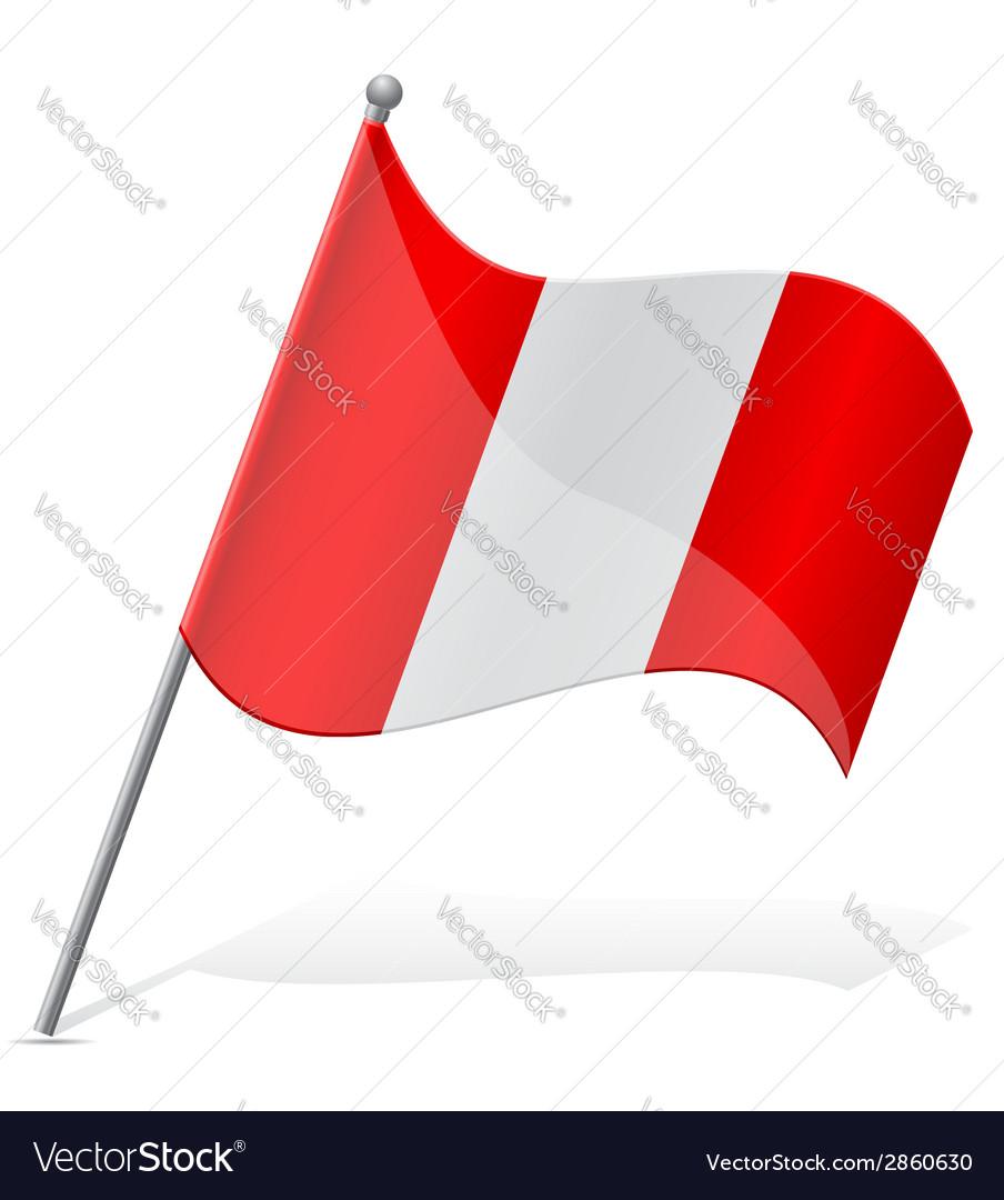 Flag of peru vector | Price: 1 Credit (USD $1)