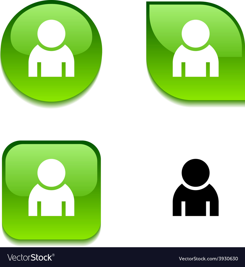 Person glossy button vector   Price: 1 Credit (USD $1)