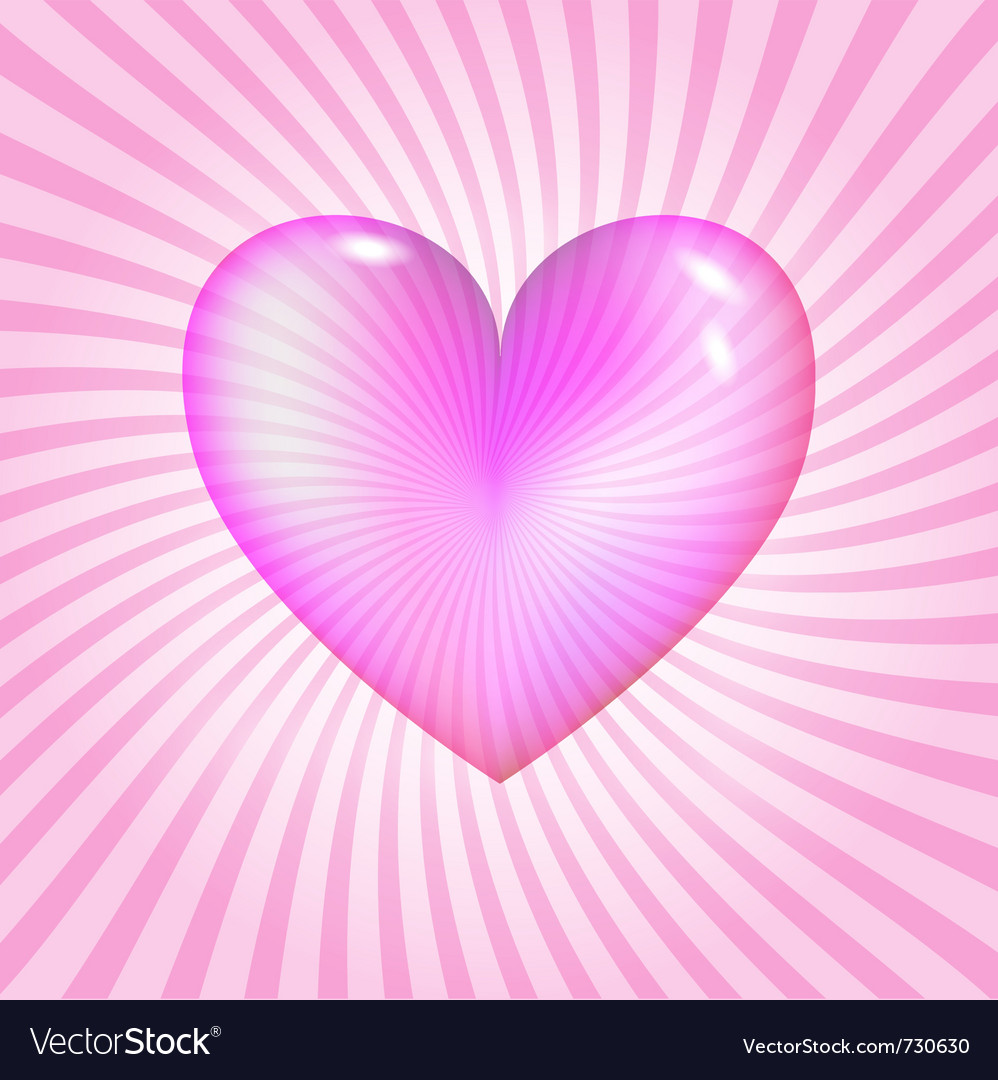 Pink glassy heart vector | Price: 1 Credit (USD $1)
