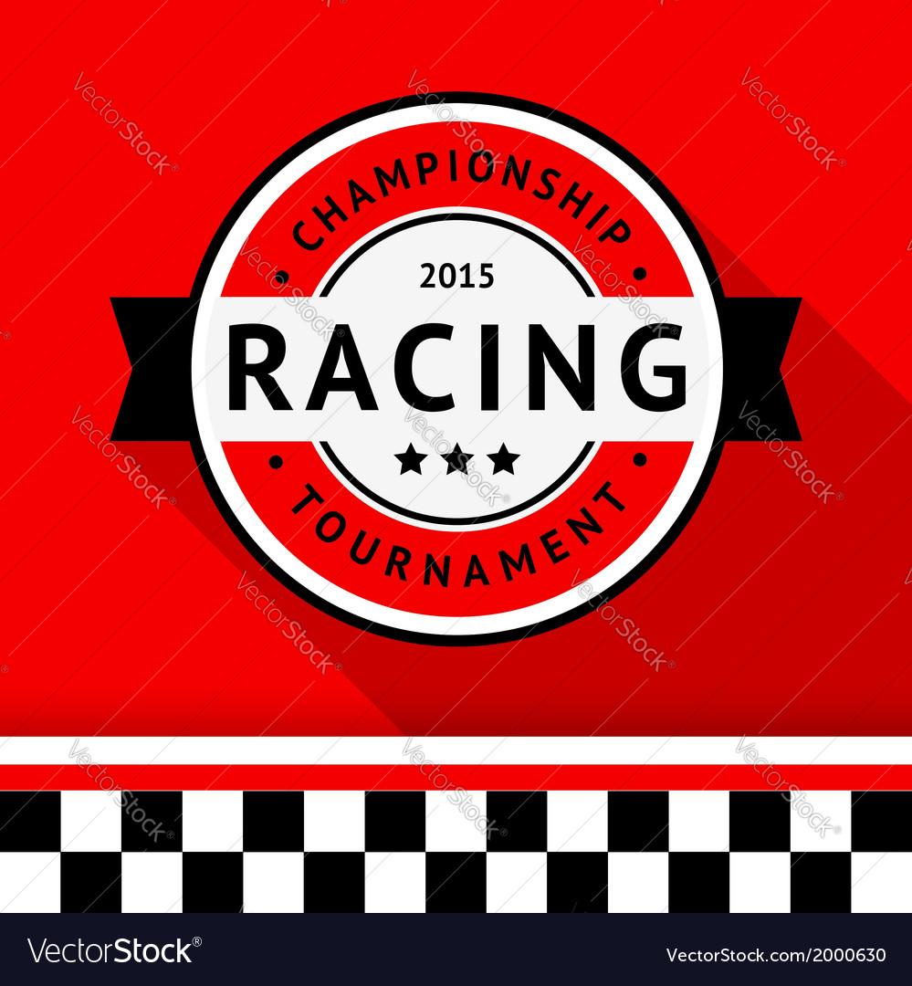 Racing badge 04 vector | Price: 1 Credit (USD $1)