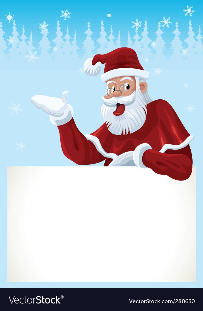Santa claus card vector   Price: 3 Credit (USD $3)