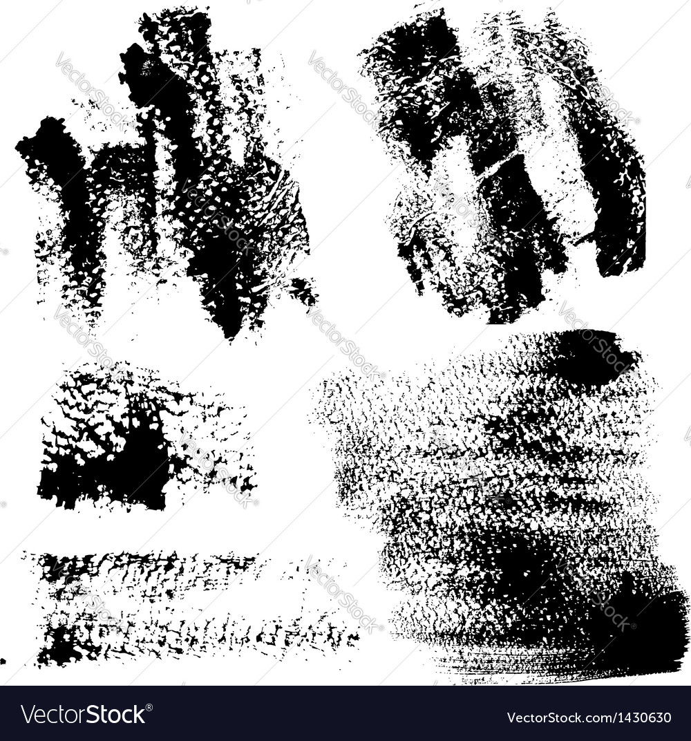 Smears and fingerprints with paint vector   Price: 1 Credit (USD $1)