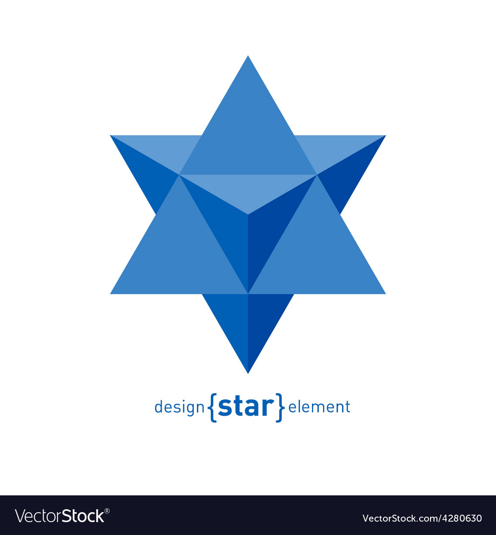 Star of david abstract design element vector | Price: 1 Credit (USD $1)