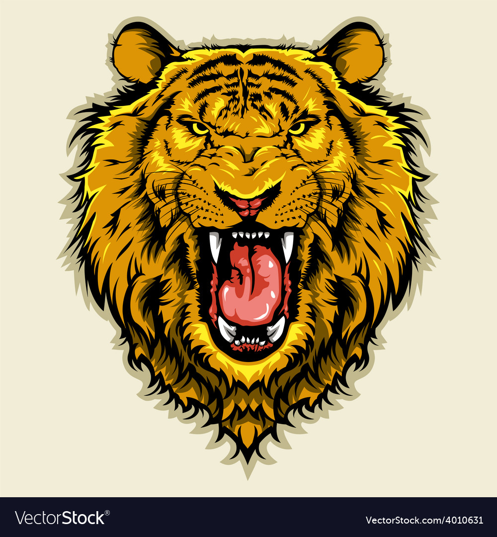 Angry lion head vector | Price: 3 Credit (USD $3)