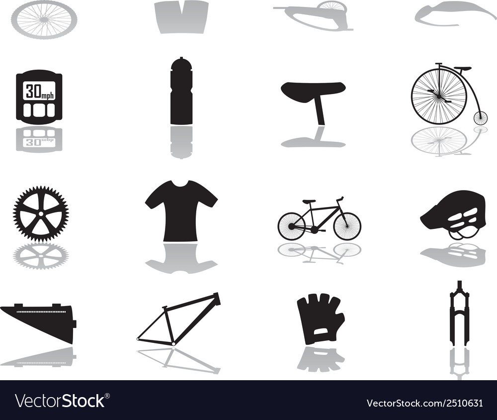 Cycling icons eps10 vector | Price: 1 Credit (USD $1)