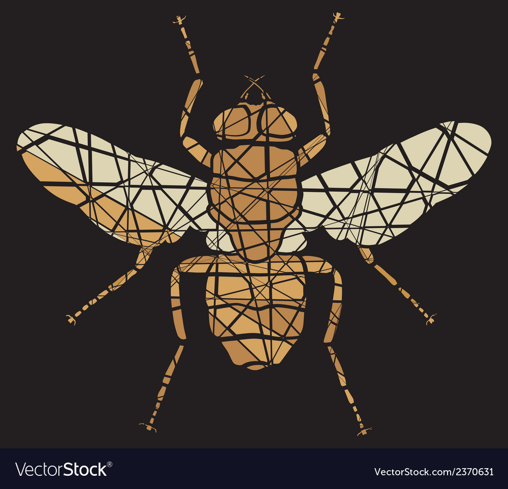 Fly mosaic vector | Price: 1 Credit (USD $1)