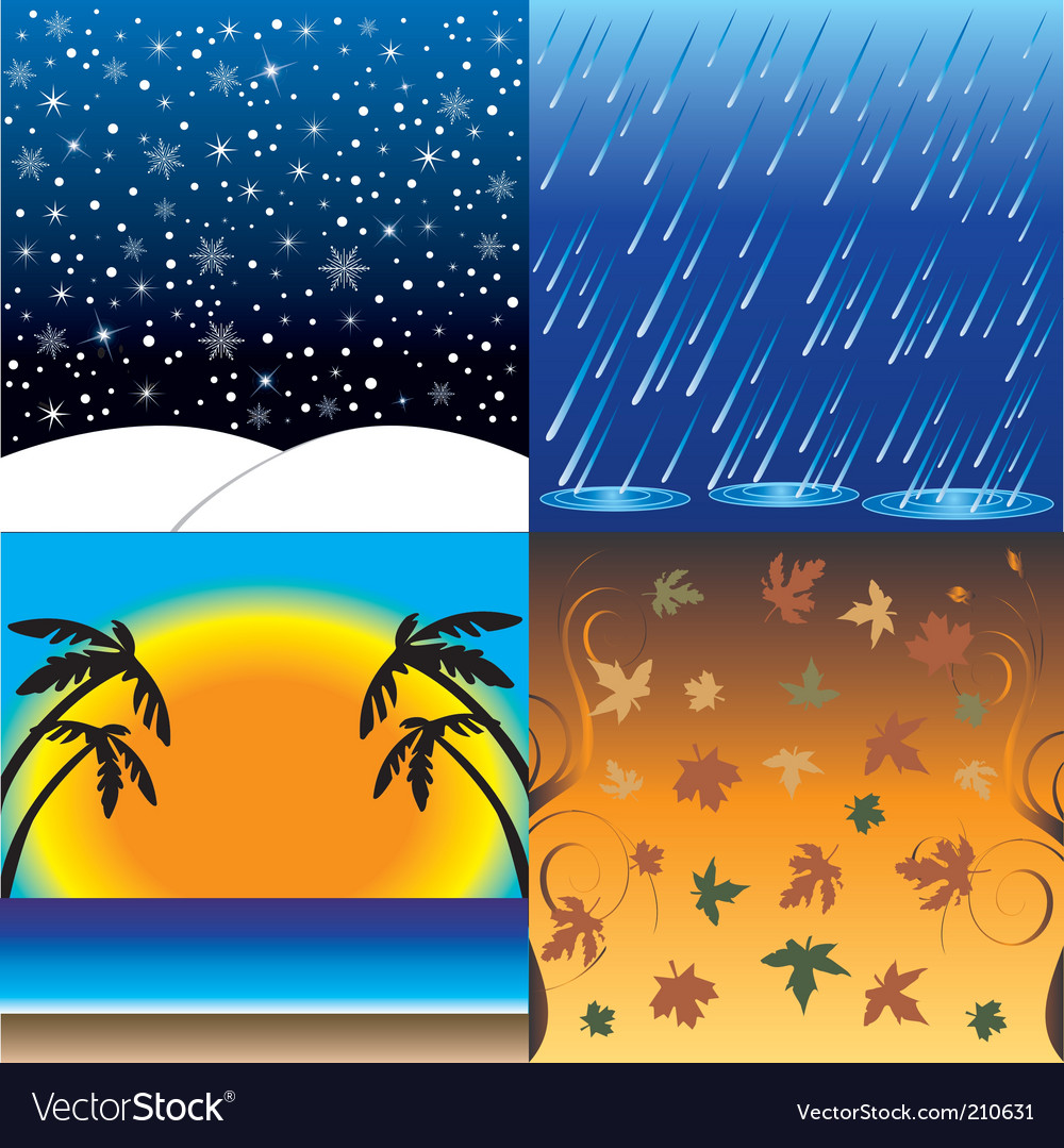 Four seasons in one day vector | Price: 1 Credit (USD $1)